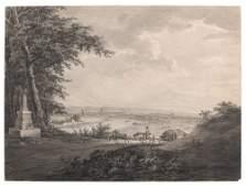 Philipp Johann Veith, Dresden from the hills near the