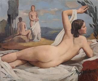 Johannes Beutner, Liegender weiblicher Rueckenakt