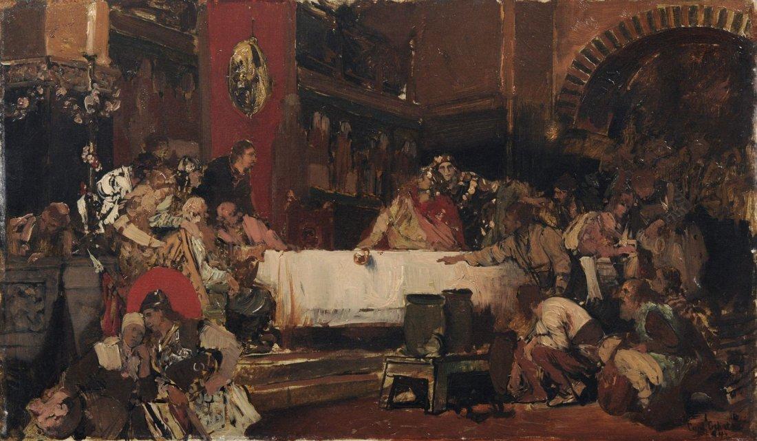 Carl Gehrts, Historienszene. 1884.