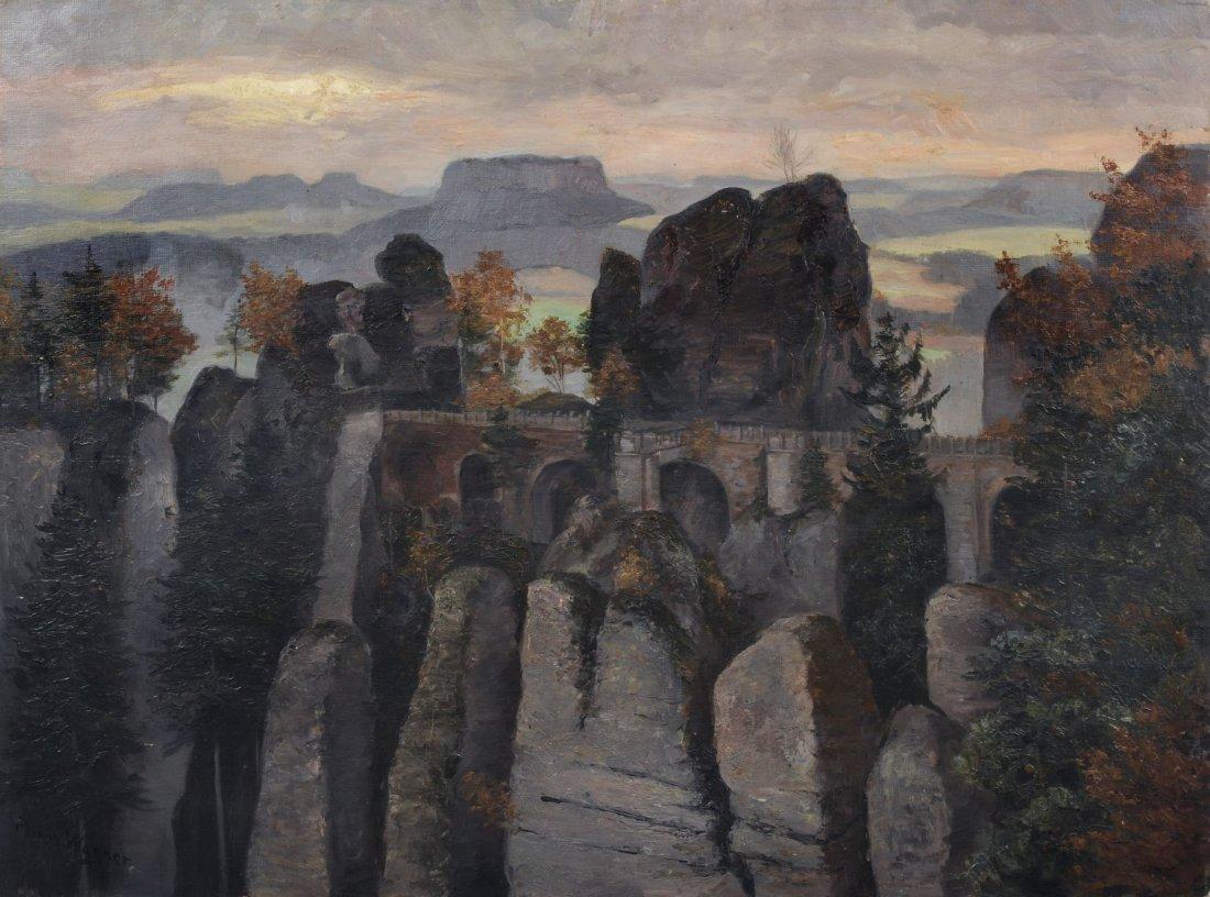 """Melanie Freiin von Wagner """"Bastei"""". 1890 s."""
