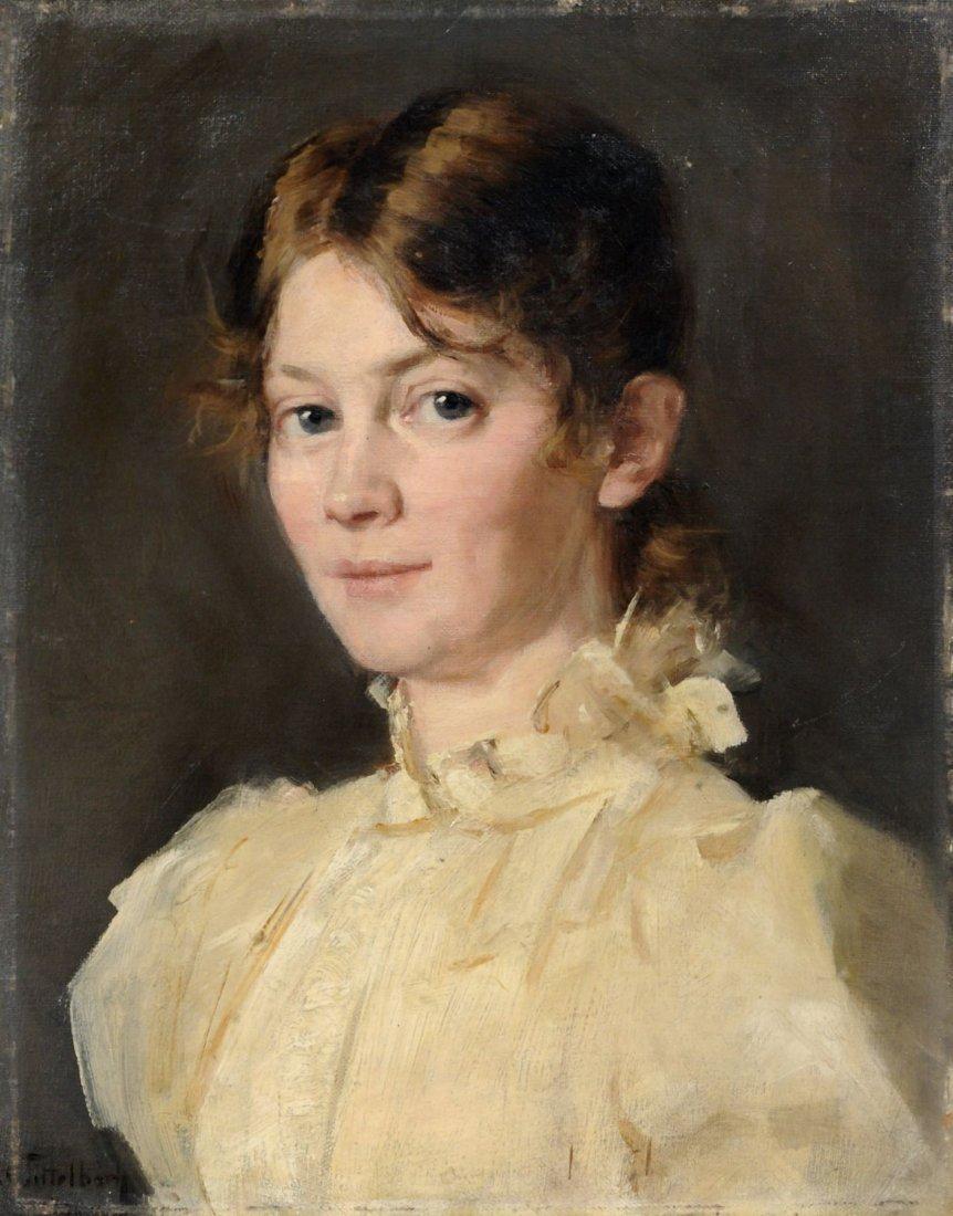 Anna Tittelbach, Selbstportrait (?). 1896.