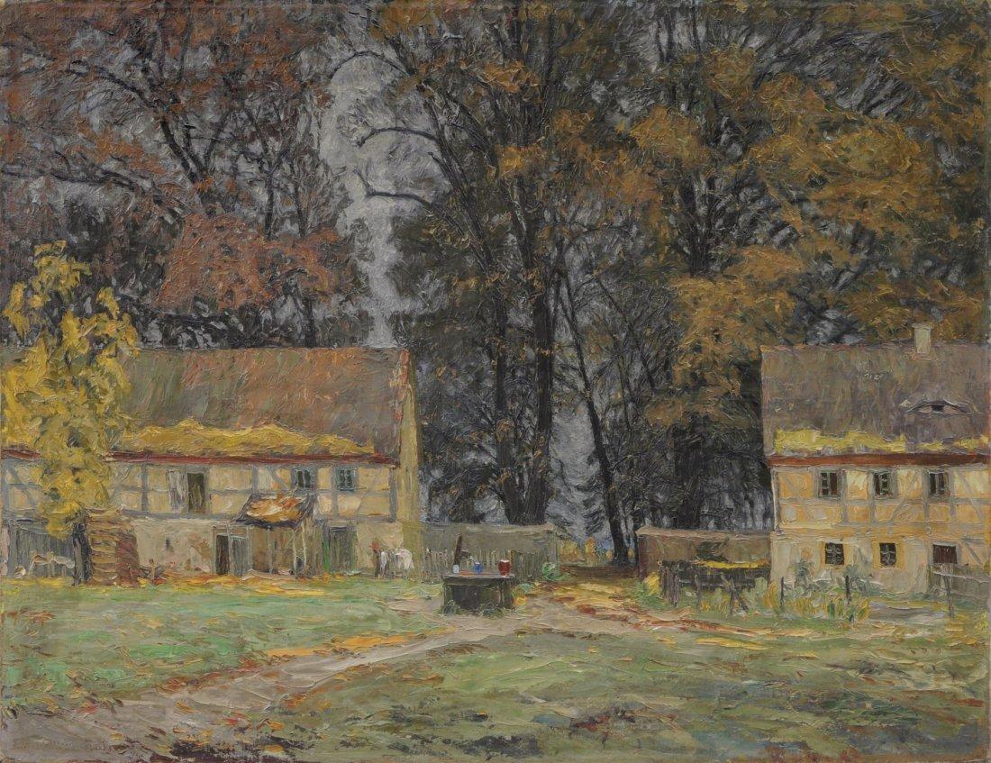 """Otto Altenkirch """"Das alte Hellergut (Herbst)"""". 1928."""