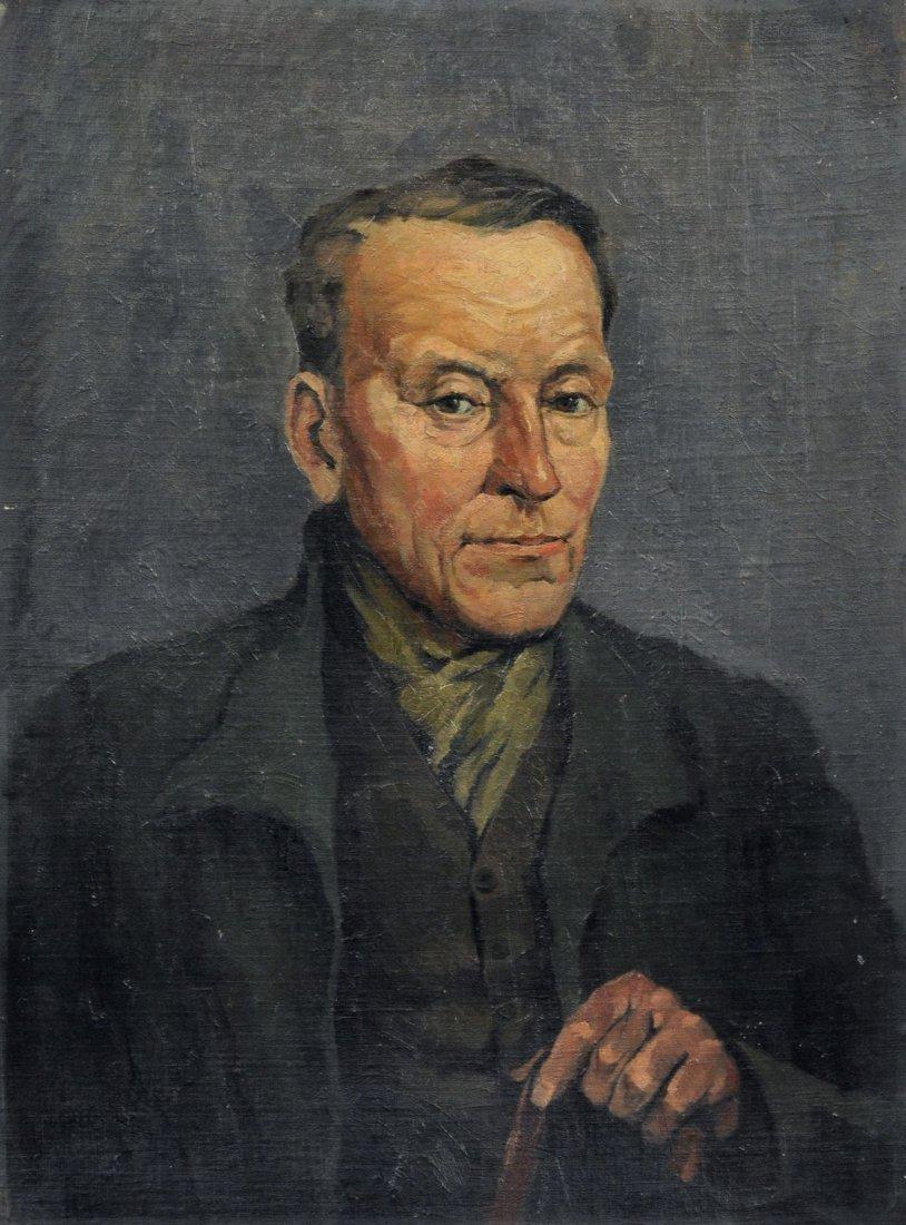 Wilhelm Busse-Doelau, Selbstportrait (?). 1989.