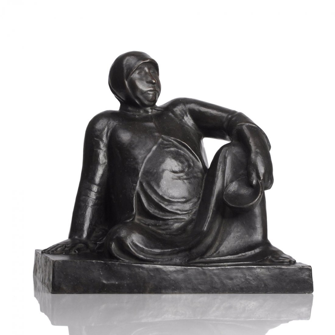 """Ernst Barlach """"Russische Bettlerin mit Schale"""". 1906."""