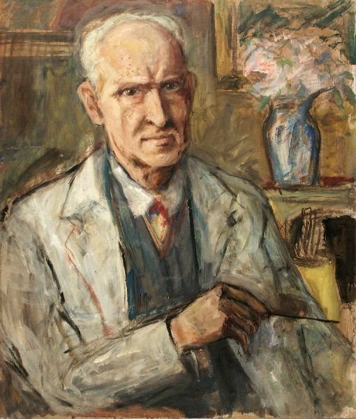 "16: Otto Arndts ""Self-portrait with brush"". No date."