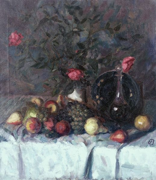 "17: Ugi Battenberg ""Still life with roses, fruits and"