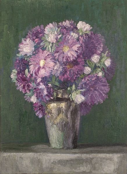 "23: Max Helas ""Still life with flowers"". 1913."