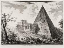 "132: Giovanni Battista Piranesi ""Veduta del Sepolcro d"