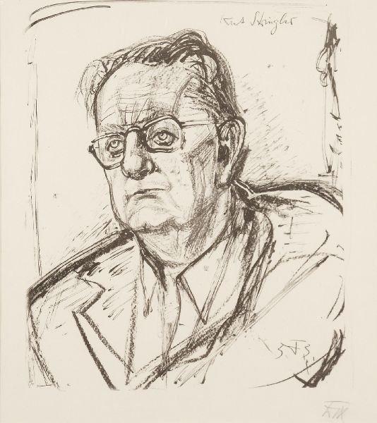 """219: Otto Dix """"Portrait of Kurt Striegler"""". 1953."""