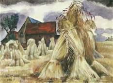 """499: Conrad Felixmüller """"Rainy harvest at Klotzsche""""."""