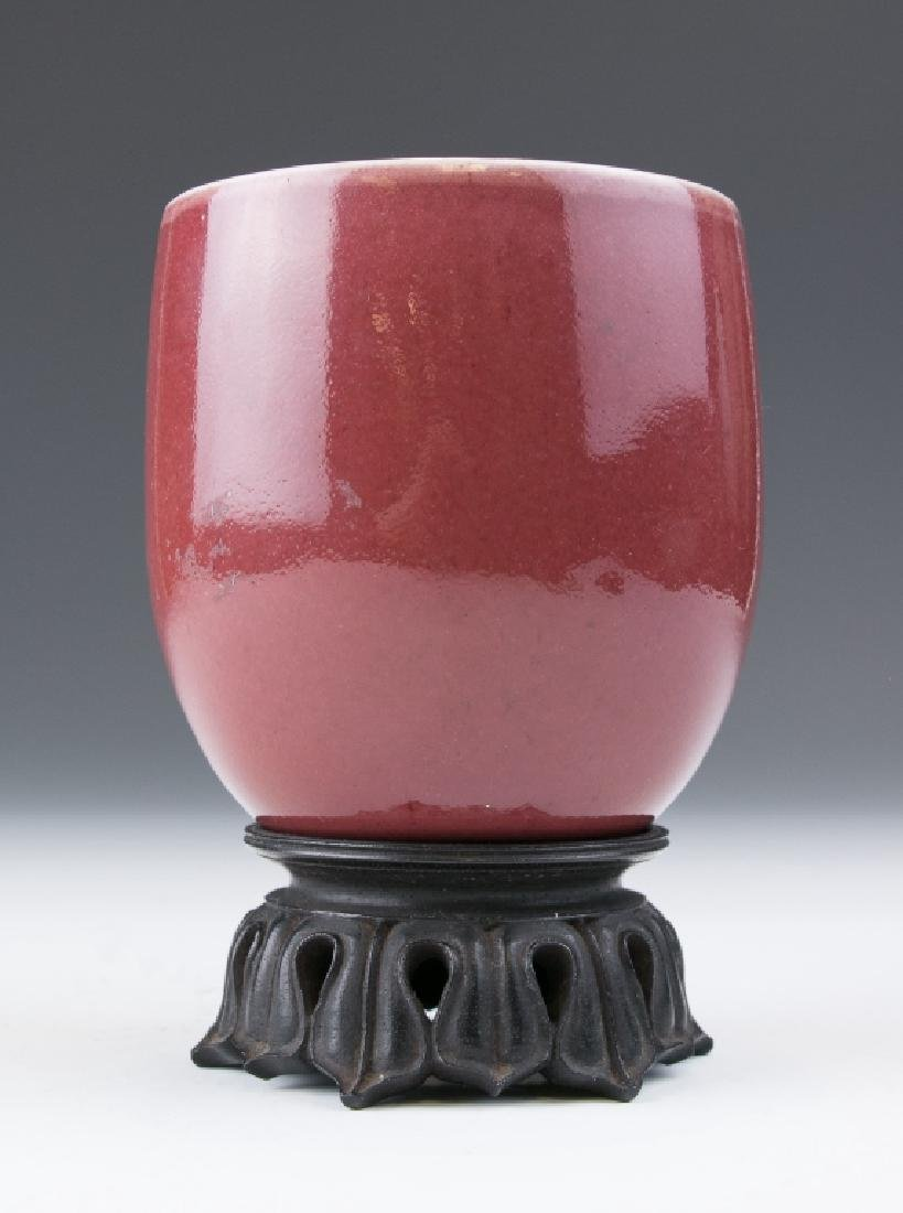An Ox-Blood Glazed Cup