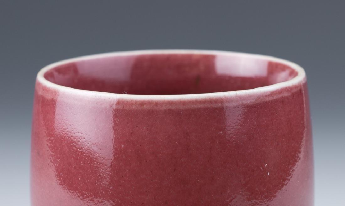 An Ox-Blood Glazed Cup - 4