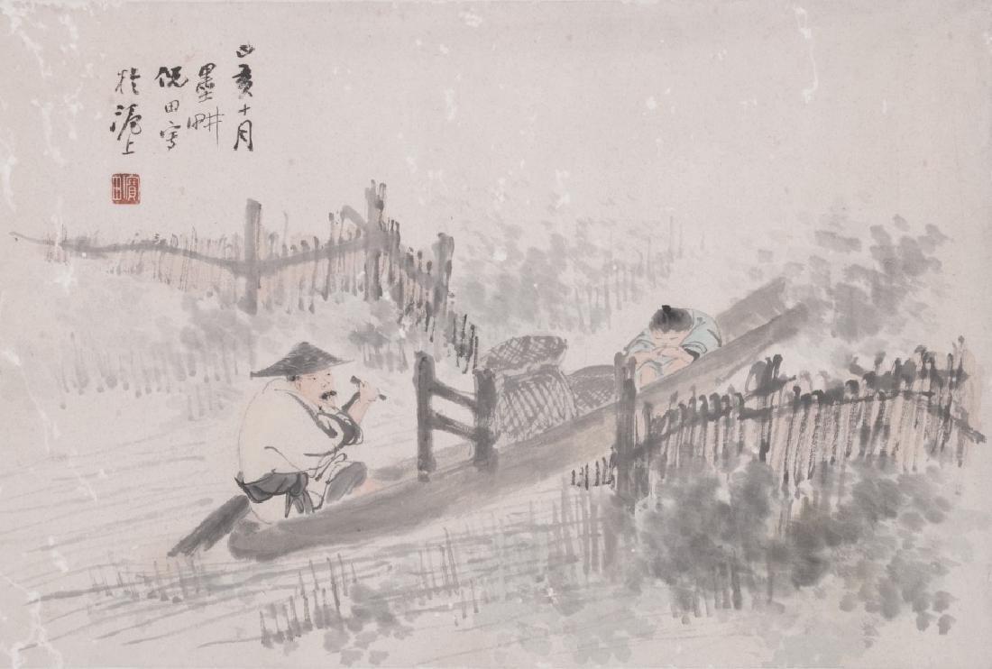 Ni Tian (1855-1919) Figures - 2