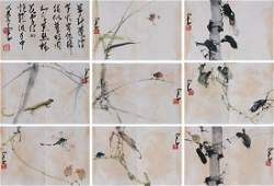 Zhao Shaoang (1905-1998) Birds and Floral Album