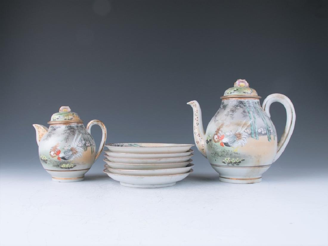 A Set of Japanese Teapots and Plates