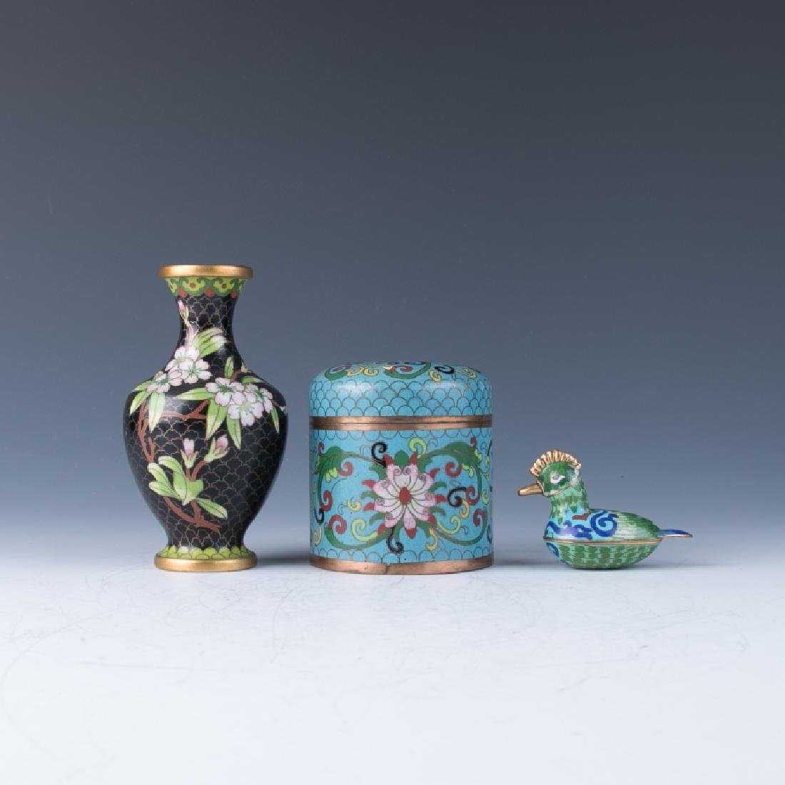 A Group of  Cloisonne Enamel Vessels