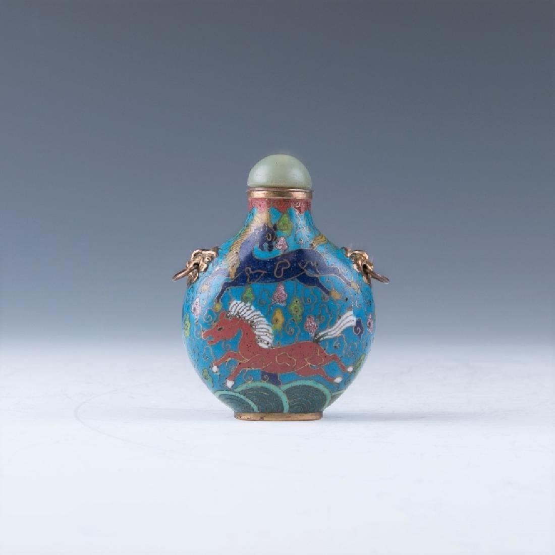A Cloisonne Enamel Snuff Bottle