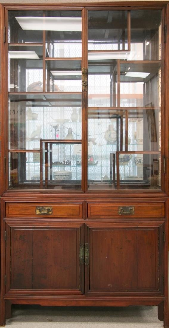 A Large Hongmu Display Cabinet, Mid 19th Century