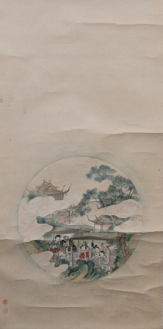 Late Qing Painting of Female Figure - 2