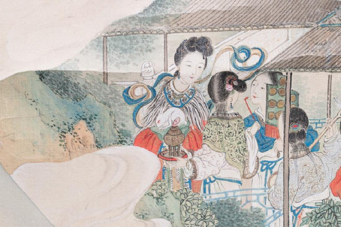 Late Qing Painting of Female Figure - 6