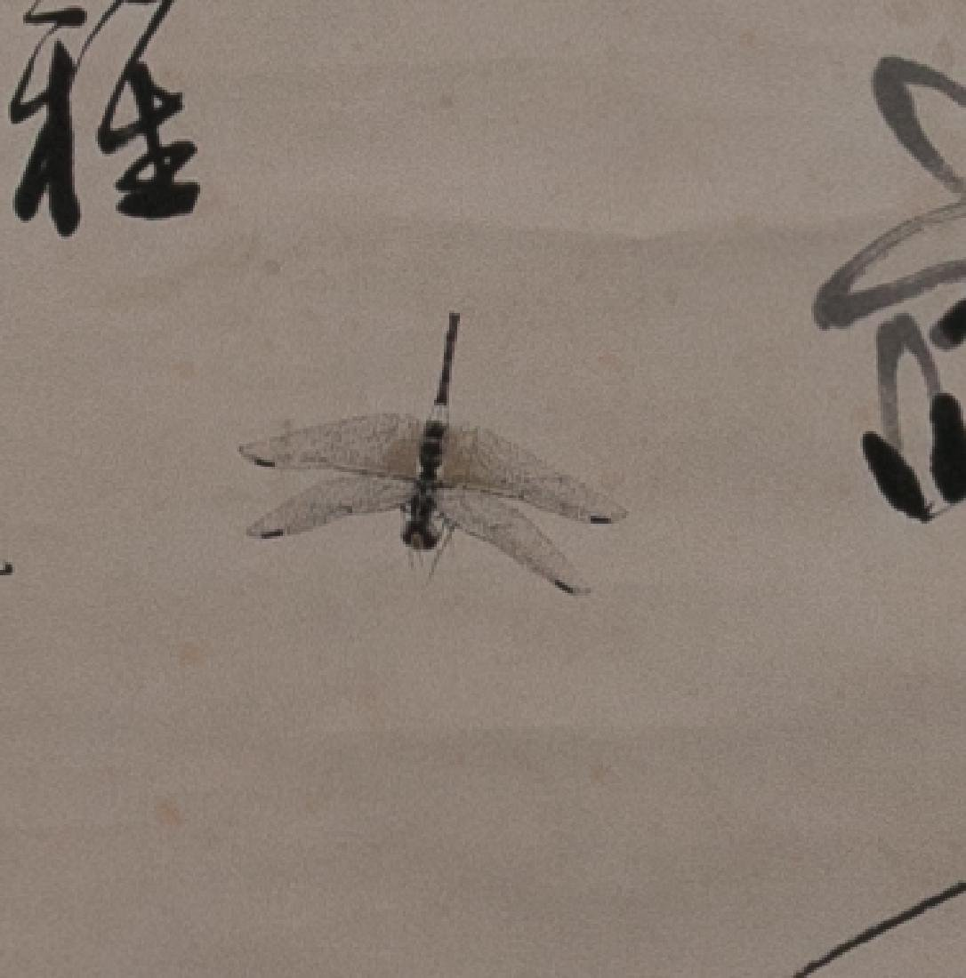 After Qi Baishi (1864-1957) - Dragonflies and Florals - 3