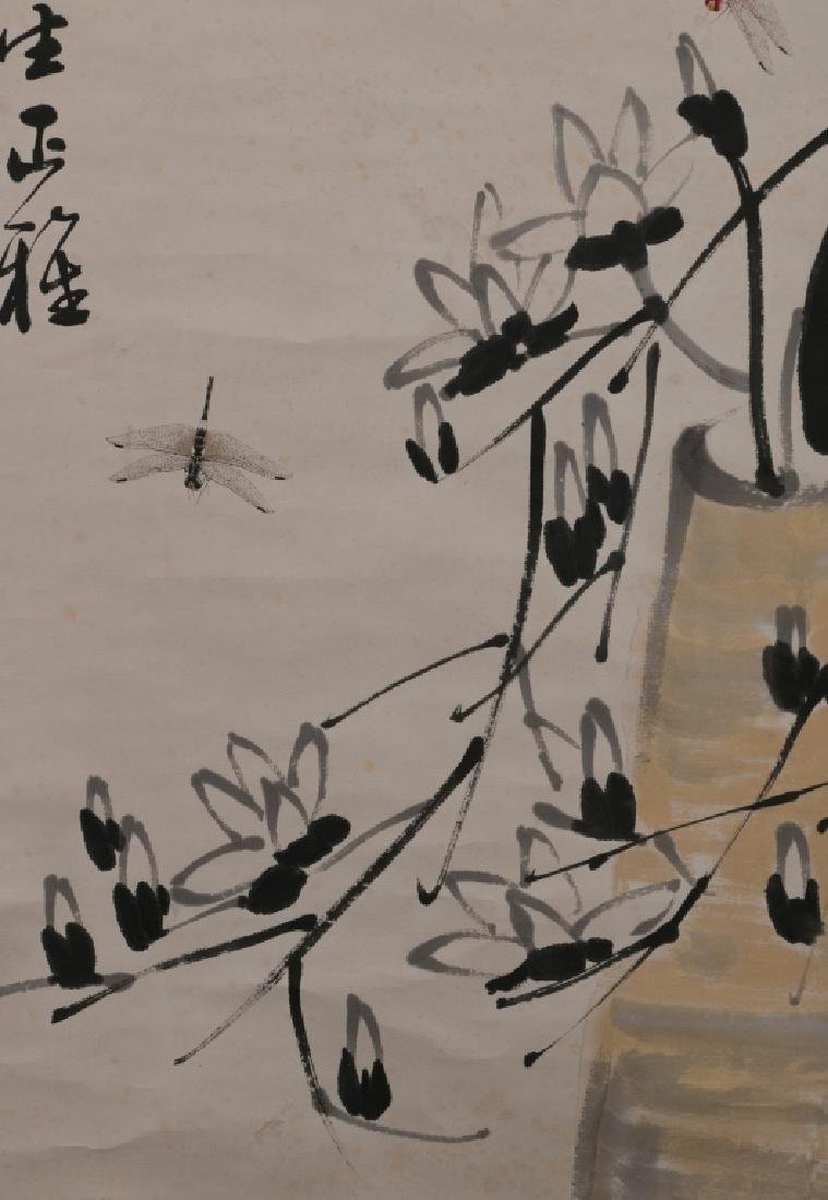 After Qi Baishi (1864-1957) - Dragonflies and Florals - 4