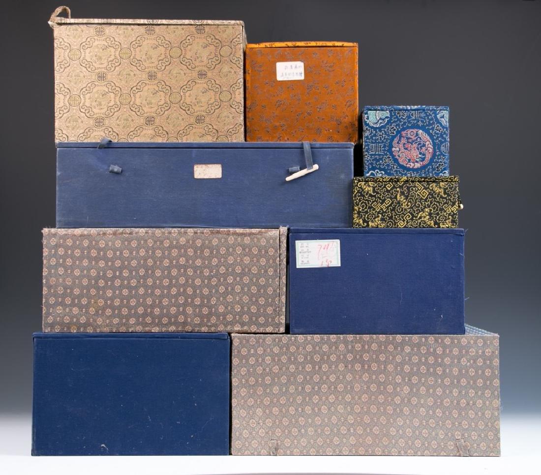 Nine Miscellaneous Storage Boxes