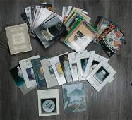 GROUP OF 50 AUCTION CATALOGUES, 20TH C.