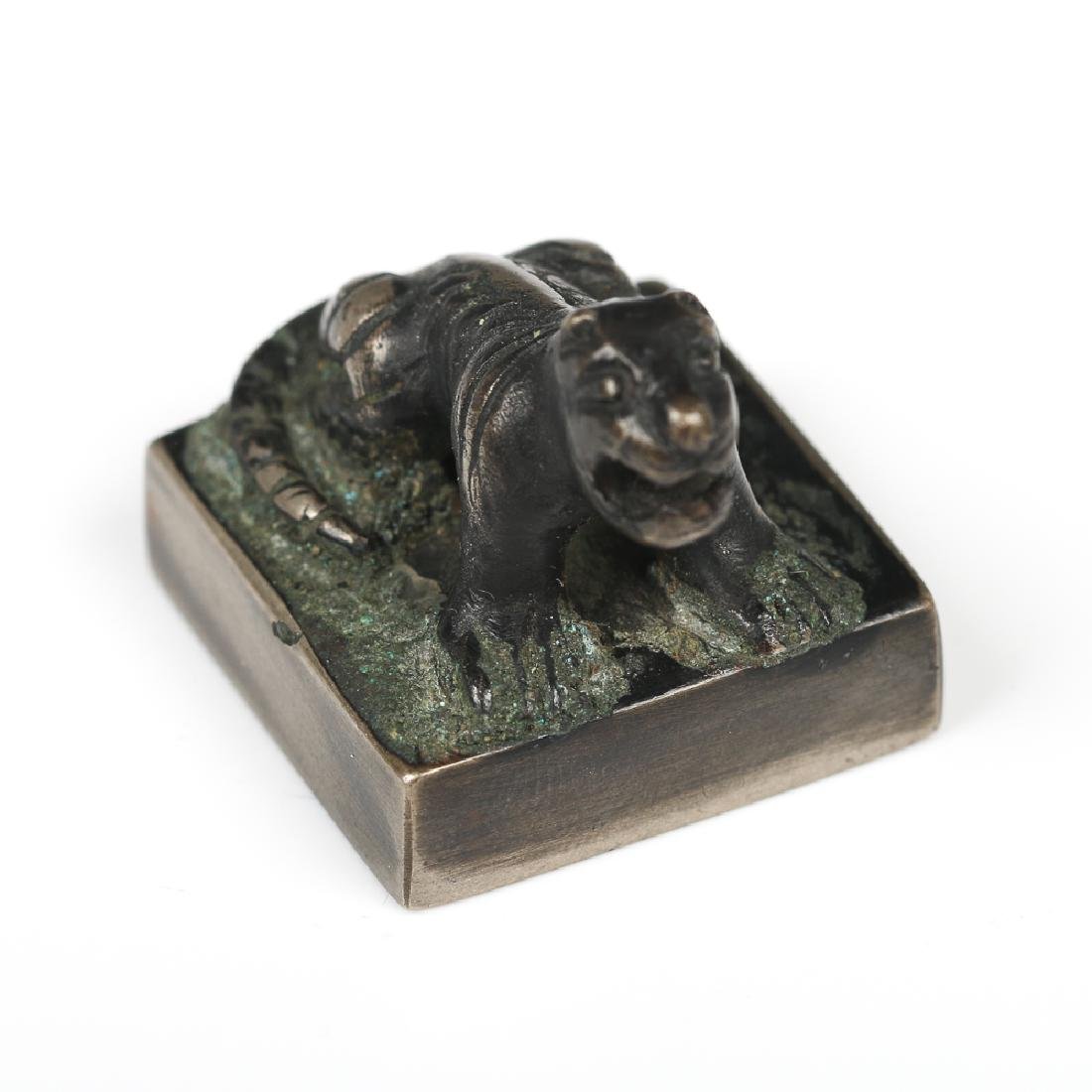 GROUP OF FIVE CHINESE BRONZE SEALS - 7