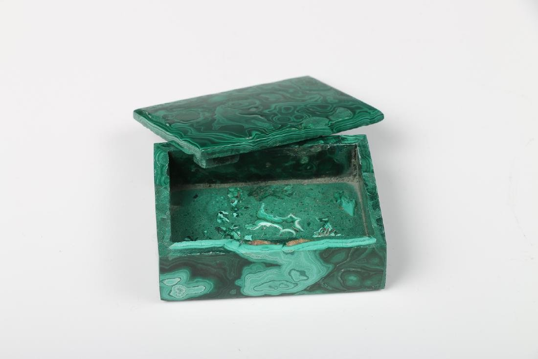 GROUP OF THREE MALACHITE CARVINGS - 5