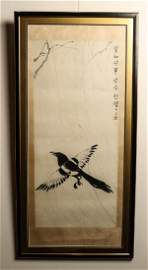 XU BEIHONG (1895-1953) MAGPIE WITH DEDICATION