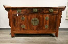 CHINESE HUANGHUALI ALTAR COFFER QING