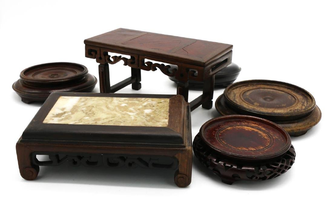 SET OF SIX CHINESE WOOD STANDS