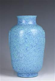 A Robins Egg Blue Vase Qianlong Mark and Period