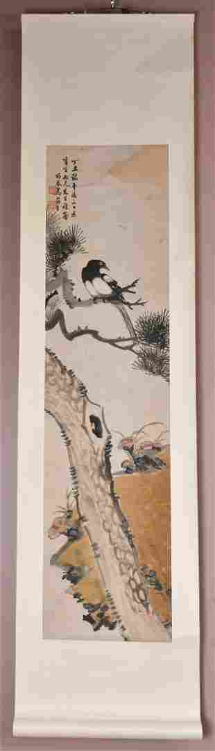 Wu Jun Sheng Flower And Bird Painting Scroll