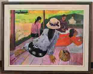 The Siesta' Paul Gauguin(1848-1903) Framed Print