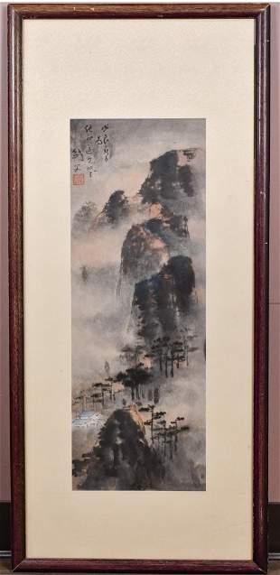 Gao Jianfu(1879-1951) Landscape, Framed