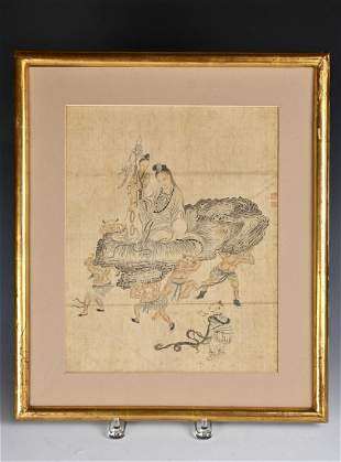 Chinese Painting On Silk Of Guanyin, Attributed To