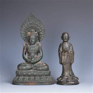 A Group of Two Bronze Figures
