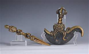 Tibet Ritual Axe And Instrument