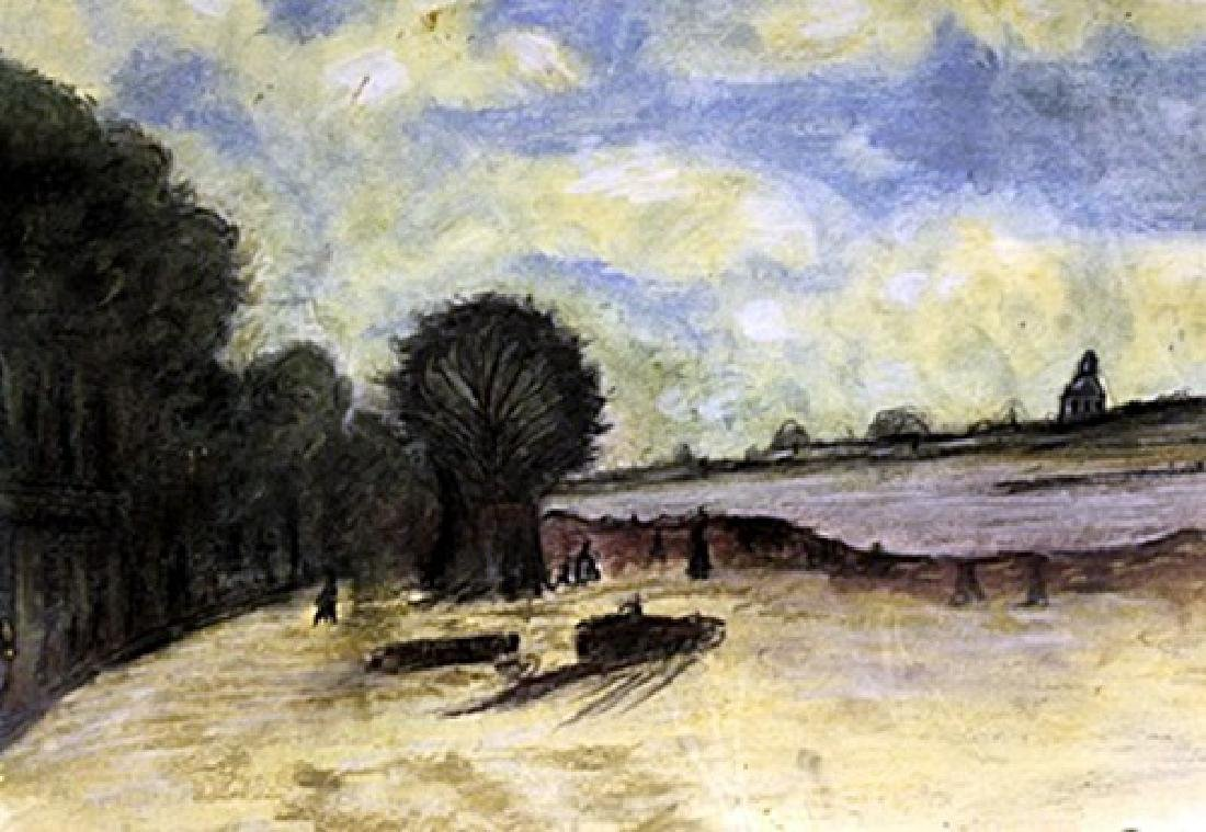 Le Quias, Paris - Frank Myers Boggs - Pastel on paper