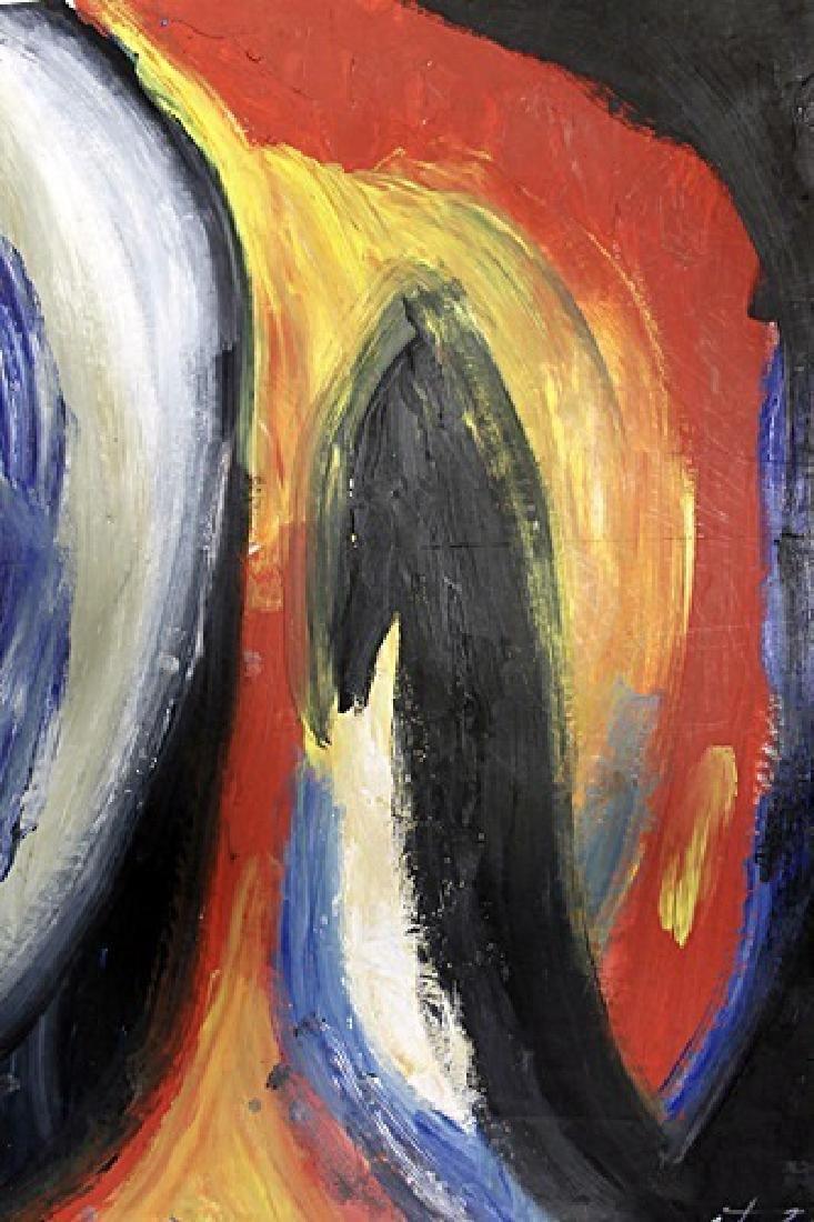 London - Paul Jenkins - Oil On Paper