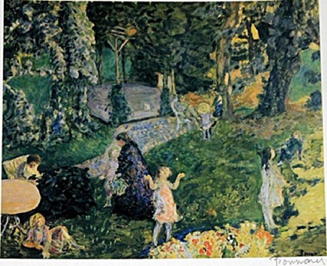 Bonnard - Family In Garden - Lithograph