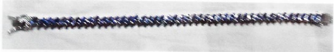 Ladys silver lab tanzanite bracelet