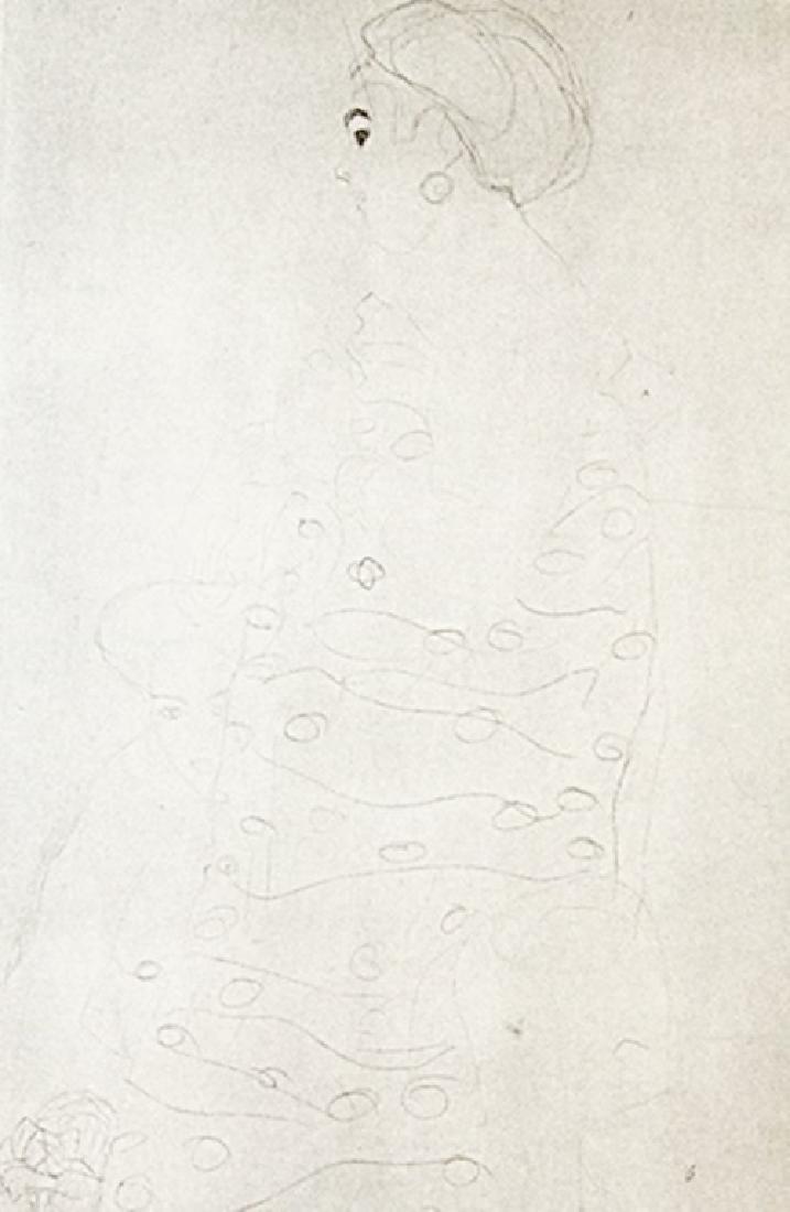 Gustav Klimt Lithograph Drawing - 2