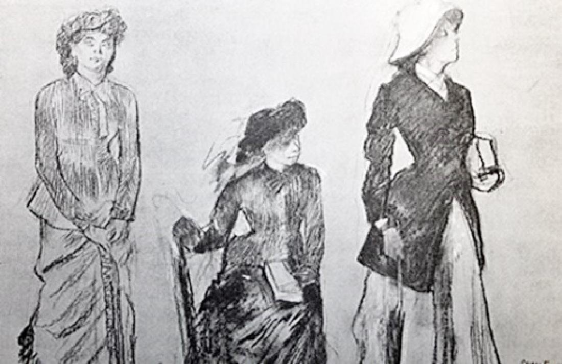 Edgar Degas Lithograph Drawing on Paper - 2
