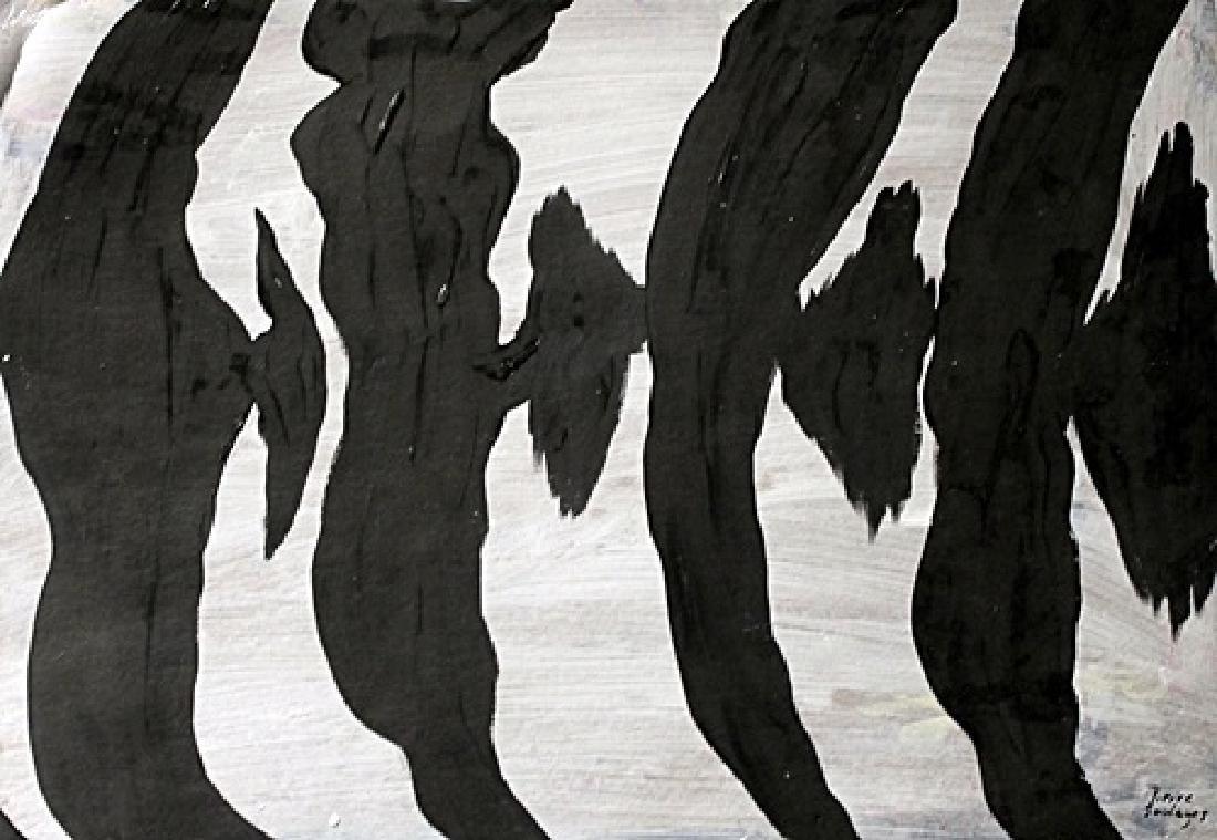 Pierre Soulages - Oil On Cardboard