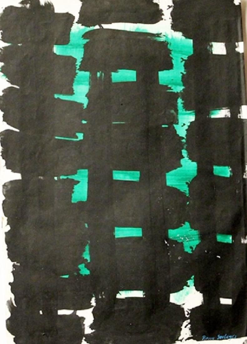 Intaglio - Pierre Soulages - Oil On Paper