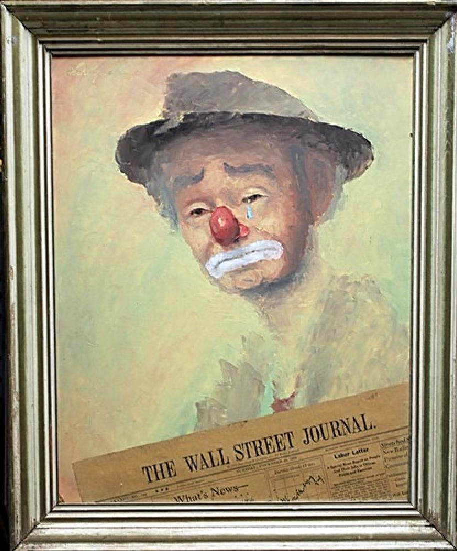 "Framed Painting ""The Wall Street Journal"" George"