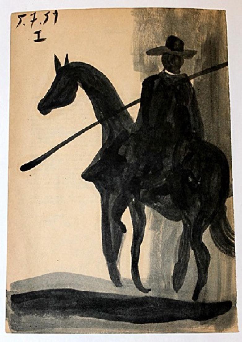 Pablo Picasso - El Picador - Oil On Paper